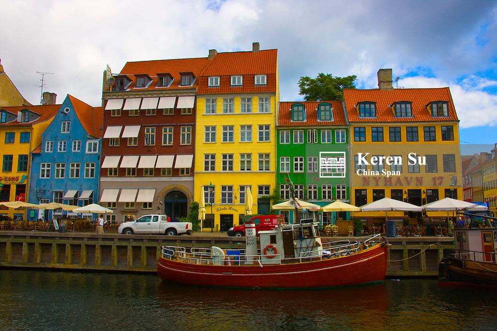 Row houses along Nyhavn Canal, Copenhagen, Denmark