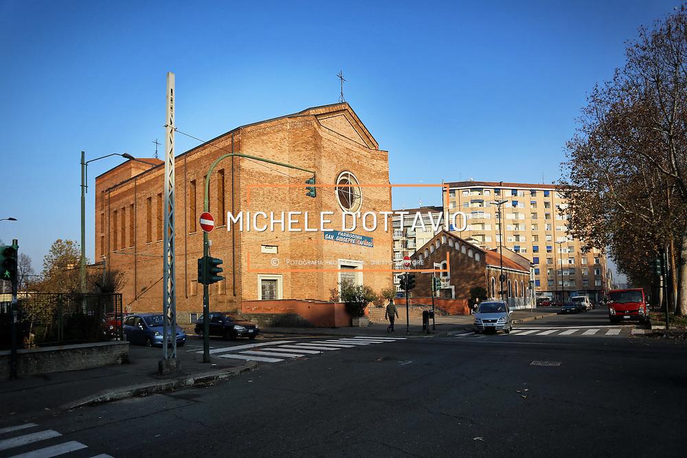 Parrocchia San Giovanni Cafasso, in borgo Vittoria. Periferia Torino nord