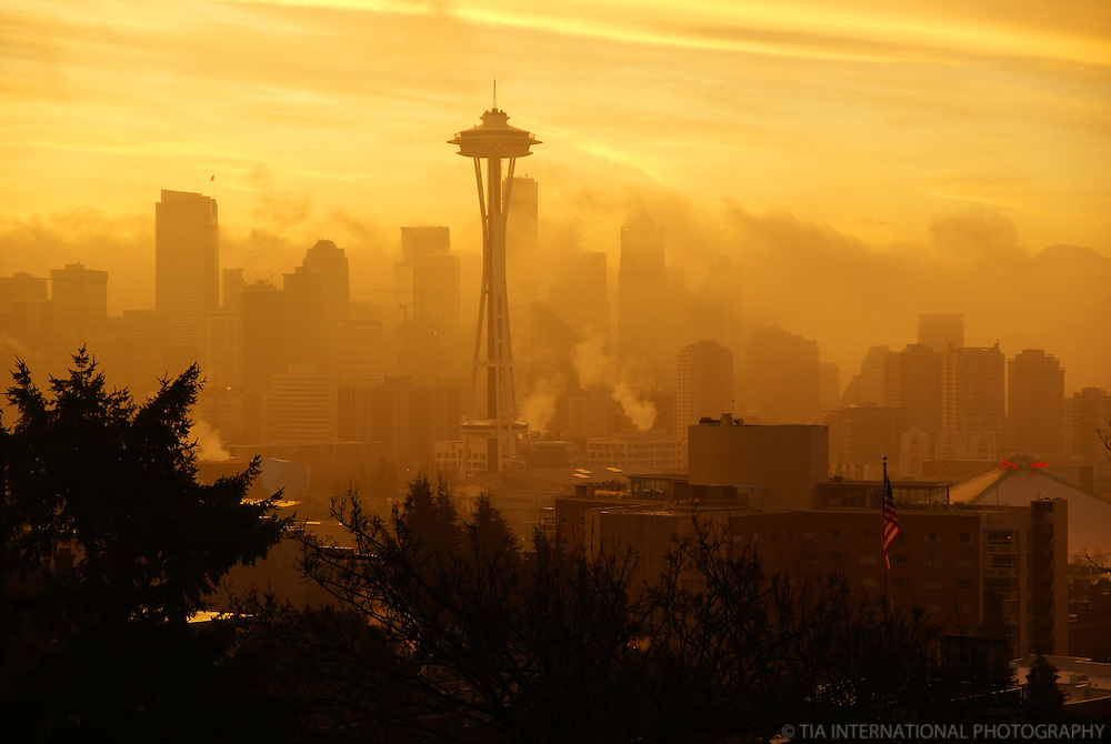Seattle Skyline from Kerry Park @ Sunrise
