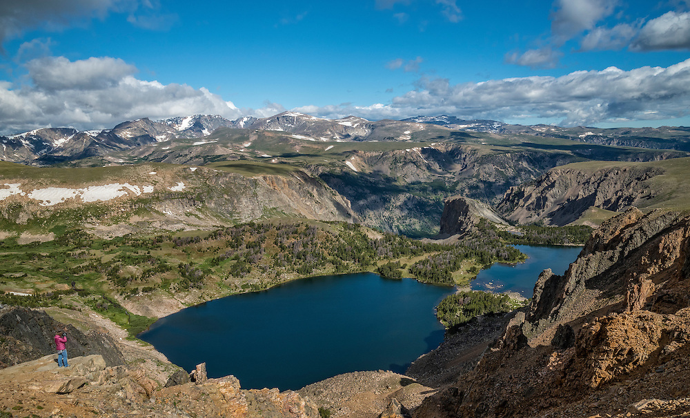 Twin Lakes, along the Beartooth Highway, a National Scenic Byways All-American Road; Wyoming.