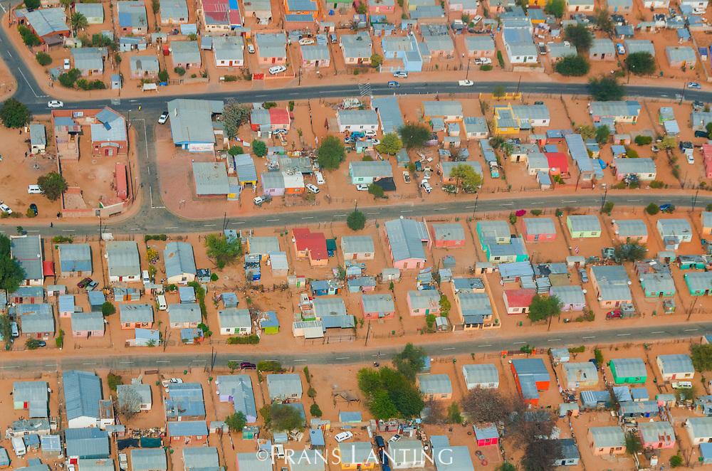 Suburban neighborhood, (aerial), Windhoek, Namibia
