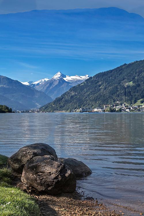 Zeller See Towards Zell Am See and the Kitzsteinhorn