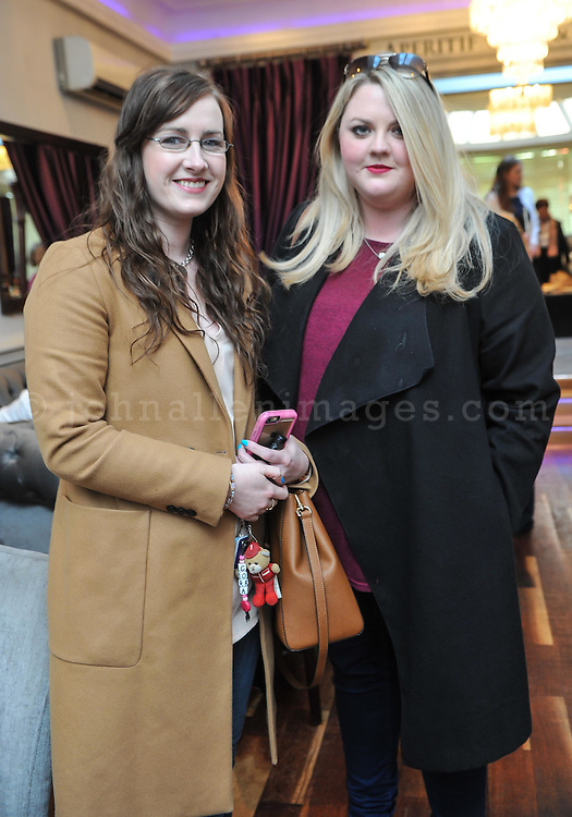 REPRO FREE<br /> Cora Savage, Rathcormac and Rachel O'Brien, Blarney pictured at the Irish Fashion Design Showcase organised by frock advisor and Wear We Wander at the Blue Haven Hotel in Kinsale.<br /> Picture. John Allen<br /> <br /> For immediate release - Contact &amp; Enquiries for further details Bronwyn Connolly 0894389844<br /> <br /> Frockadvisor, Ireland's only Fashion app supporting independent boutiques and designers teamed up with online Ethical Fashion Boutique, Wear we Wander, to showcase and celebrate the very best in Irish Fashion Design in the stunning setting of Aperitif at The Blue Haven, Kinsale. Guests previewed SS16 Collections from well known Irish Designers including Alice Halliday, Charlotte &amp; Jane, Wear we Wander, Celtic Fusion, Mamukko,&amp;  Helle Helsner. While indulging Handmade Irish Chocolate, Wine and Tapas, all while listening to the haunting sounds of the Harp. Guests were truly immersed in the very fantastic display of Irish Design &amp; Fashion. <br /> <br /> frockadvisor is the brain child of Fashion Gurus Brendan Courtney and Sonya Lennon, who between them have many industry years under their beautifully crafted belts. Their careers have included TV broadcasting, styling, journalism and designing.<br /> Using all that knowledge, they developed frockadvisor, through a deep understanding of the industry and a clear sense of what the customer wants. Independent retailers, designers and their customers love each other and are driven by a common search for something different. Fashion is magic and the experience of being advised and assisted by people who you respect and trust is much more beautiful than simply pressing &lsquo;buy it now&rsquo;. frockadvisor is pioneering a new kind of customer experience and providing boutique and designers an opportunity to connect with fashion lovers on a whole new level. <br /> <br /> frockadvisor is delighted be involved with anything that promotes beautiful things produced and sold by beautiful people. Bronwyn is an inspiration, bringing together the bright stars of Irish Desi