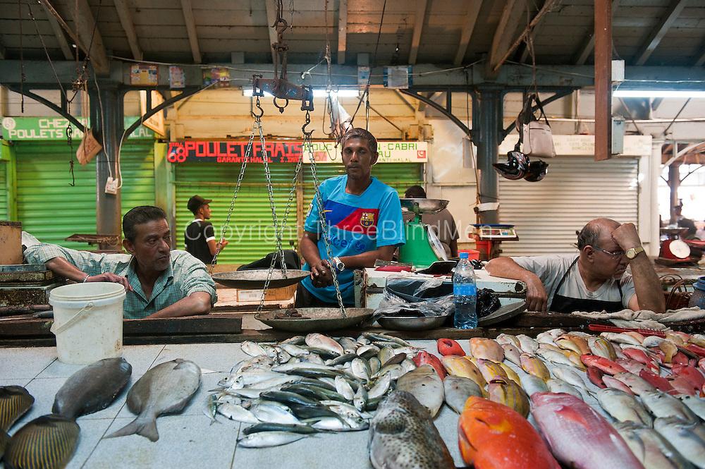 Mauritius interior of the fish market threeblindmen photography archive - Mauritius market port louis ...