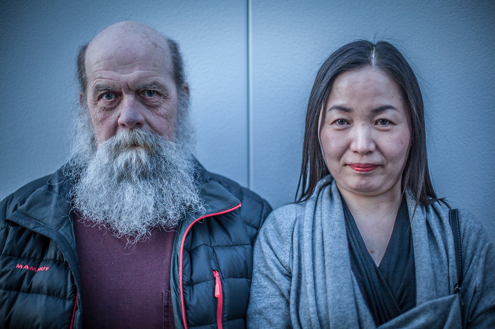 Artists Esther Euimu Hong and Don Moore, Anchorage