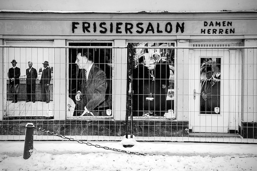 A black and white image of a derelict building in Bad Gastein Austria.<br /> <br /> David Henderson Photography Fine Art Print