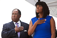 Oath of Office Ceremony in Compton. The new Mayor Compton Aja Brown was sworn in by LA Co. Supervisor Mark Ridley-Thomas.