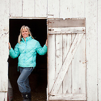 Laura Sutherly on her beef farm in Miami County.(Jodi Miller)