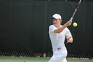 Mississippi's Marcel Thiemann vs. Ohio State in tennis action at the Palmer-Salloum Tennis Complex at Ole Miss in Oxford, Miss. on Wednesday, April 13, 2010.