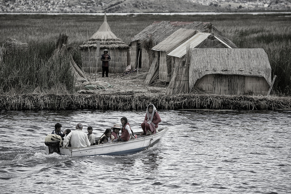 South America, Peru, Lake Titicaca, Suasi Island, uros village