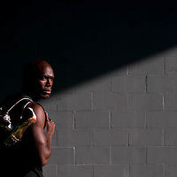 6/12/12 6:27:24 PM -- Bradenton, FL. -- Olympian LaShawn Merritt, who competes in the 400 meters, poses for a portrait at the IMG Performance Institute in Bradenton, Florida. ...Photo by Chip J Litherland, Freelance.