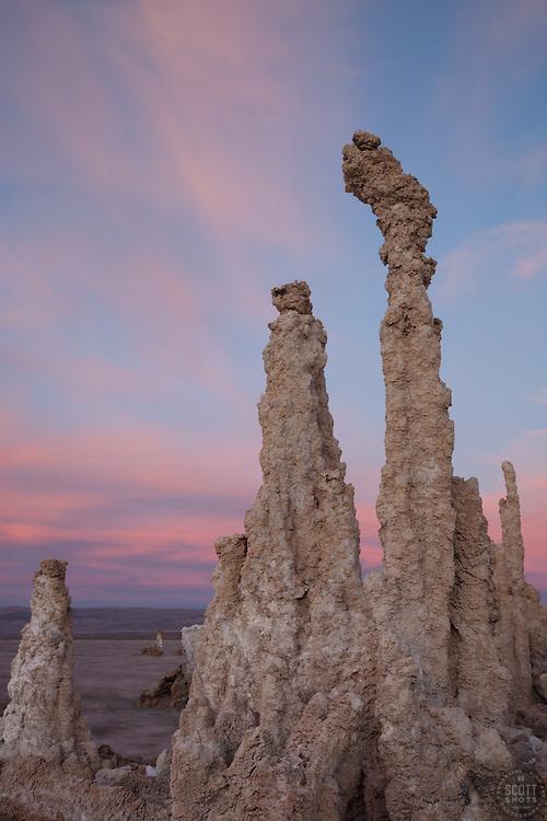 """Sunset at Mono Lake 5"" - These tufas were photographed at the South Tufa area in Mono Lake, California."