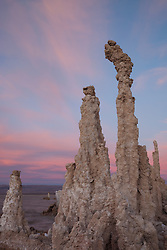 """Sunset at Mono Lake 5"" - These tufas were photographed at the South Tufa area in Mono Lake, California."