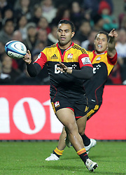 Chiefs' Lelia Masaga in action against the Crusaders in a Super Rugby match, Waikato Stadium, Hamilton, New Zealand, Friday, July 06, 2012.  Credit:SNPA / David Rowland