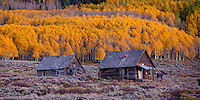 Two cabins. Gunnison National Forest - Colorado.