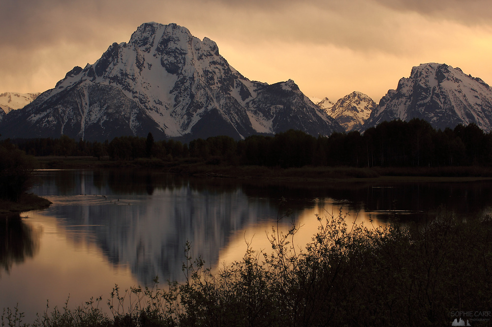 Grand Teton National Park Sunset at Oxbow Bend on the Snake River