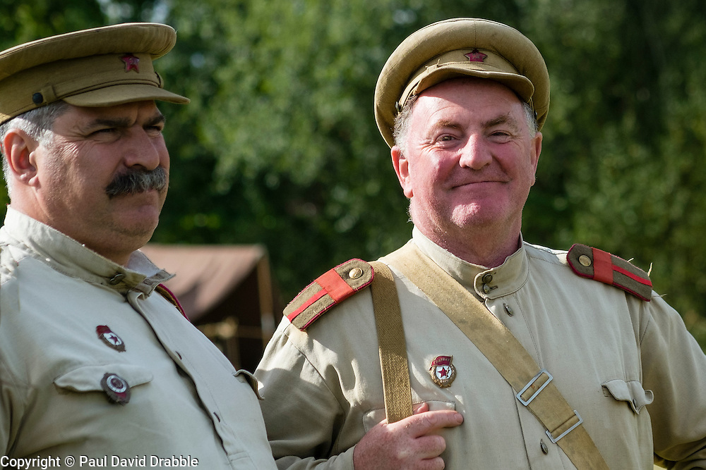 Soviets from the Red Army's  13th Guards Rifle Division at Crowle &amp; Ealand 1940's weekend at 7 Lakes Country Park on Sunday<br /> <br />   24/25 September 2016<br />   Copyright Paul David Drabble<br />   www.pauldaviddrabble.photoshelter.com