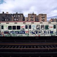 NYC Subway Train Bronx, NY 1973