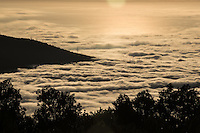 the start of a longer timelapse sequence of the clouds flowing around el tiede in tenerife