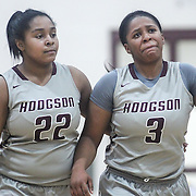 Hodgson Vo-Tech Guard Kayla Braxton-Young (3), (RIGHT) walks off the court in tears after a 46-31 Diamond State Classic lost to Caesar Rodney Wed. Dec. 28, 2016 at Saint Elizabeth's High School in Wilmington.