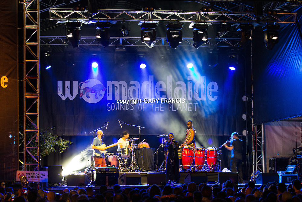 Orange Blossom playing at Womadelaide 2016 Music Festival held between 11 - 14 March 2016 in Adelaide, South Australia