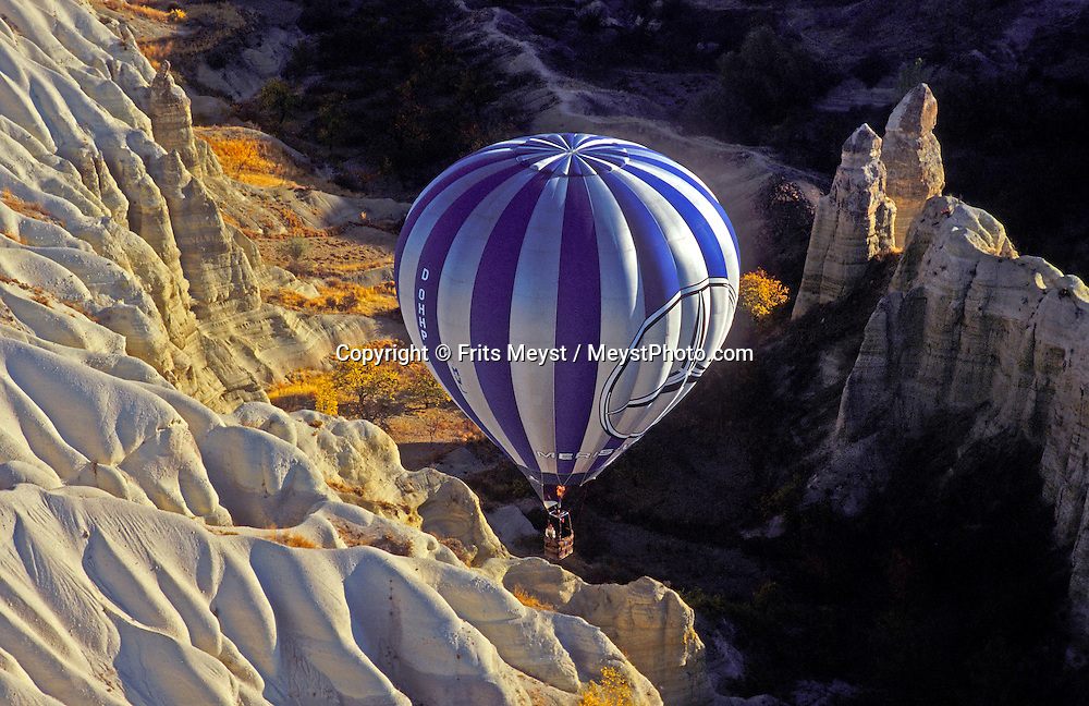 Goreme, Cappadocia, Nevsehir, Turkey. A hot air balloon flight is one of the best ways to explore the fairy chimney landscape of Cappadocia and the Gorme National Park. Photo by Frits Meyst/Adventure4ever.com