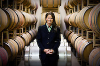 JEROME A. POLLOS/Press..Kimber Gates, owner of Coeur d'Alene Cellars