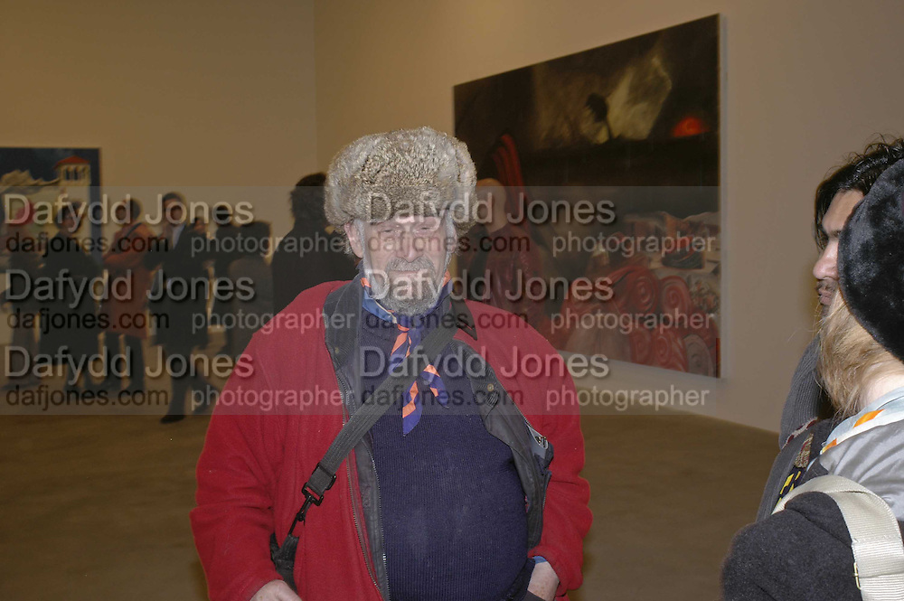 Richard Niman, Dexter Dalwood, Gagosian Gallery. 14 December 2006. ONE TIME USE ONLY - DO NOT ARCHIVE  © Copyright Photograph by Dafydd Jones 248 CLAPHAM PARK RD. LONDON SW90PZ.  Tel 020 7733 0108 www.dafjones.com