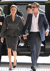JUN 13 2014 Brad Pitt and Angelina Jolie  at Sexual Violence conf