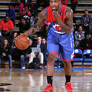 Delaware 87ers Guard Sean Kilpatrick (10) dribbles the ball down court in the first half of a NBA D-league regular season basketball game between the Delaware 87ers and the Grand Rapids Drive (Detroit Pistons) Saturday, Apr. 04, 2015 at The Bob Carpenter Sports Convocation Center in Newark, DEL.