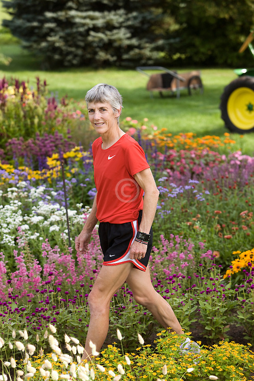 Joan Benoit Samuelson training, organic farm signs reflect her 'sustainability' ethos