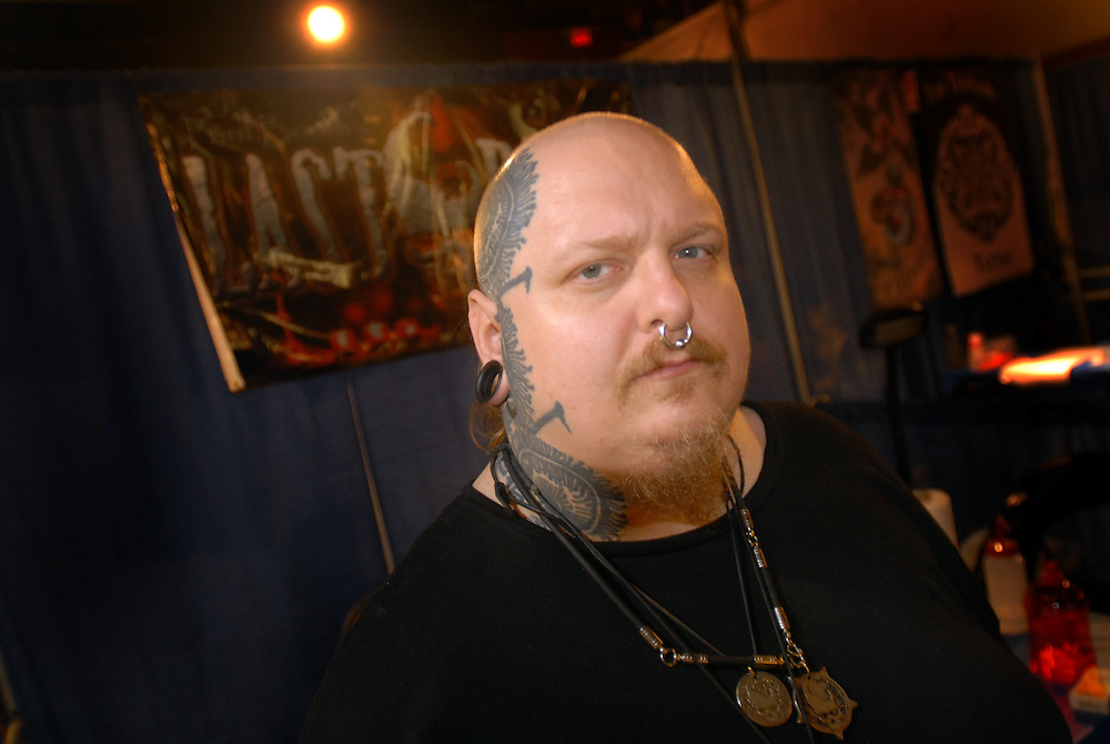 New York City Tattoo Convention 2009 at the Roseland Ballroom: Paul Booth from Last Rites