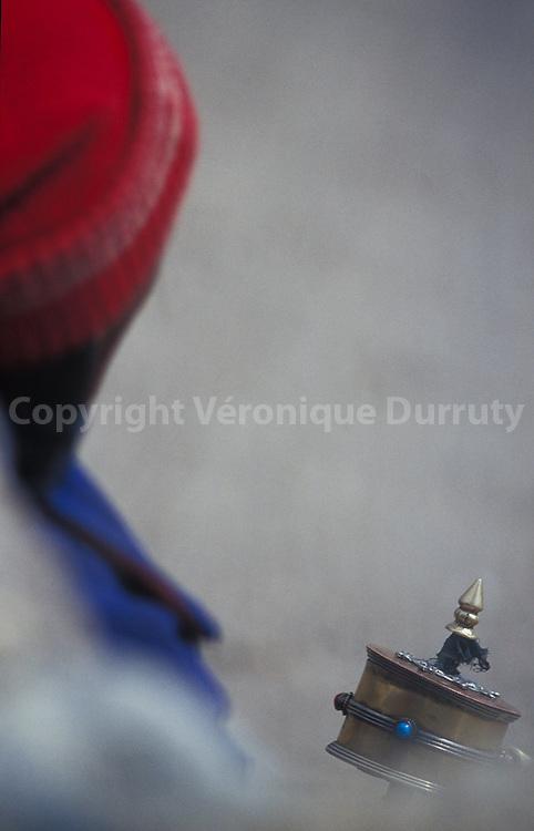 PRAYER WHEEL, TUKSE, LADAKH, INDIA // moulin a prieres, Tukse, ladakh, Inde
