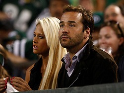 Sept 3, 2009; East Rutherford, NJ, USA;  Actor Jeremy Piven watches the action during the first half of the Jets-Eagles game at Giants Stadium.