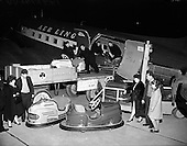 1959 - Aer Lingus - Unloading Dodgem Cars at Dublin Airport