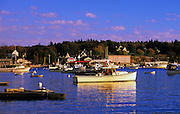 Image of Bass Harbor and the small quaint fishing village of Bernard on Mount Desert Island in Maine, American Northeast
