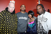 l to r: Krondon(S.A.S), Phil the Agony(S.A.S), Graph Noble, and  Mitchy Slick(S.A.S) at The Sony HipHop Live Tour featuring Talib Kweli and David Banner held at The Nokia Theater on October 25, 2008 in NYC