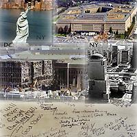 Memorials for the 9/11 terrorist attack on the Pentagon in Arlington Virginia
