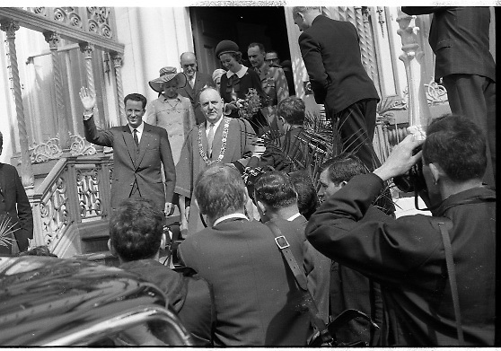 Belgian Royals King Baudouin and Queen Fabiola visit the Lord Mayor of Dublin, Frank Cluskey..15.05.1968