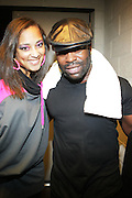 l to r: Amanda Diva and Black Thought at The OkayPlayer Hoiliday Jammy presented by OkayPlayer and Frank Magazine held at BB Kings on December 18, 2008 in New York City..The Legendary Roots Crew gives back to fans with All-Star line-up of Special Guests to celebrate upcoming Holiday Season.