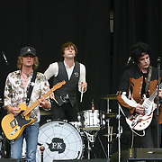 The Raconteurs performs during the second day of the 2008 Bonnaroo Music & Arts Festival on June 13, 2008 in Manchester, Tennessee. The four-day music festival features a variety of musical acts, arts and comedians. Photo by Bryan Rinnert