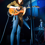 WASHINGTON, DC - October 31st, 2011 - Annie Clark, aka St. Vincent, performs at the 9:30 Club in Washington DC. Her third album, Strange Mercy, was released in September and reached  #19 on the US Billboard 200. (Photo by Kyle Gustafson/For The Washington Post)