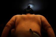 Sumo fight at the Ry?goku Kokugikan, Tokyo, Japan / Combat de Sumo au Ry?goku Kokugikan ,Tokyo, Japon :