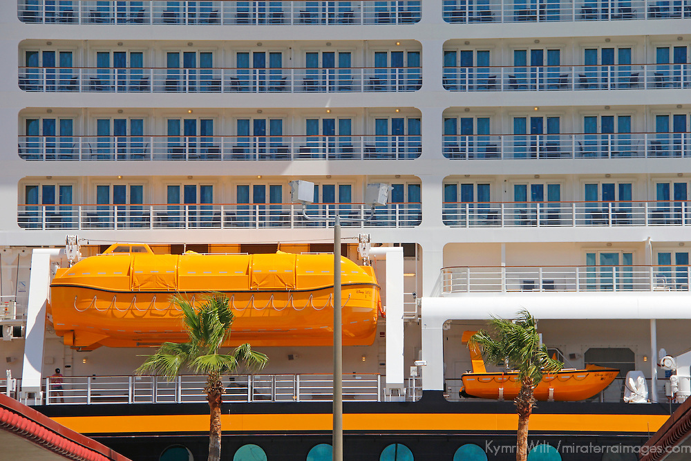 Disney Fantasy Cruiseship in port in Fort Lauderdale