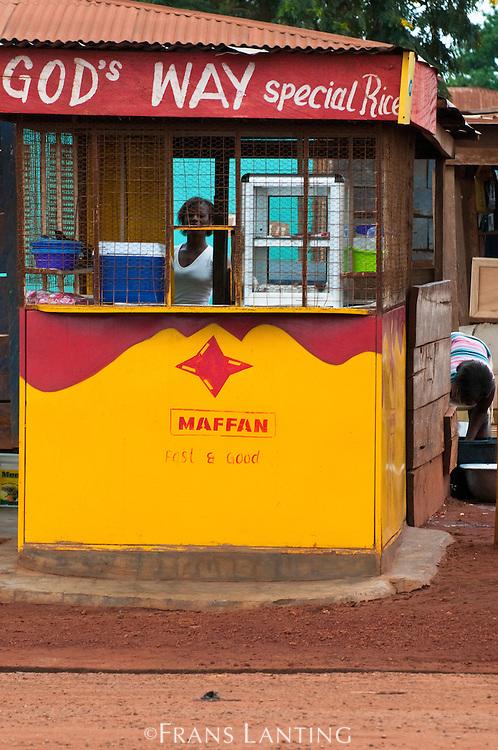 Roadside shop front, Ghana