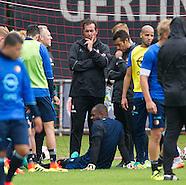 ROTTERDAM - Doelman Kenneth Vermeer van Feyenoord scheurt zijn achillespees af tijdens de training