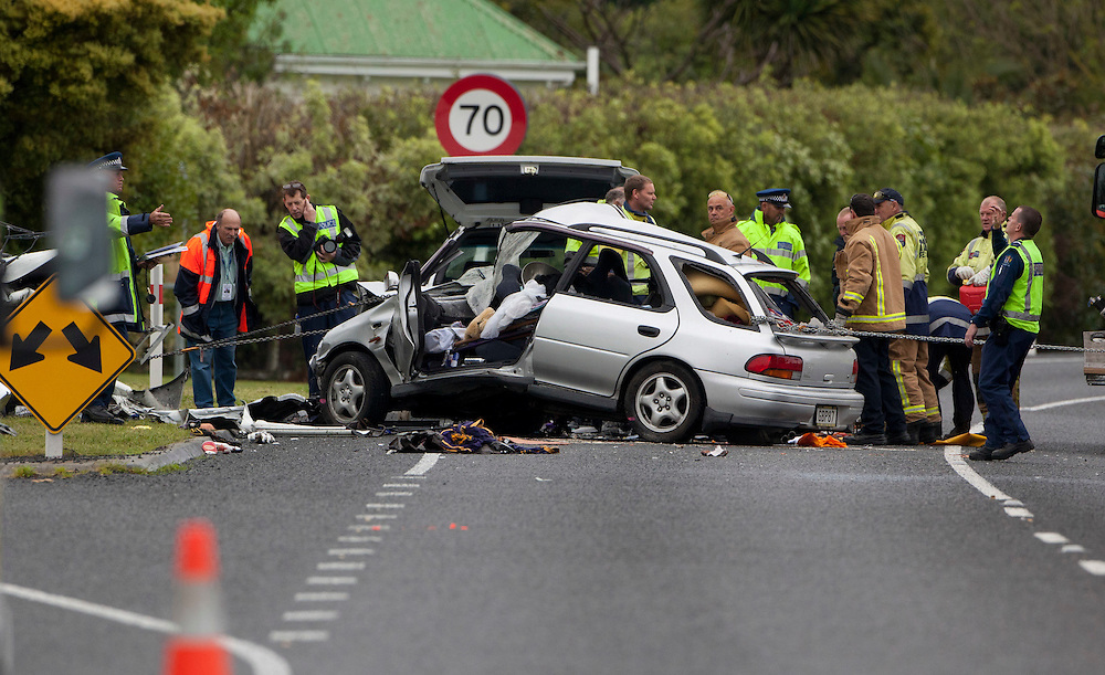 Car Truck Crash Whangarei