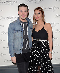Charlie Sims and Ferne McCann attend as TV personality Ferne McCann launches her blog 'Fashionable Foodie' at Charlie's Deli, High Street, Brentwood, Essex on Thursday 5 February 2015