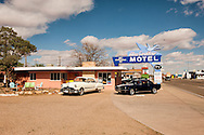 Historic Route 66, Tucumcari, New Mexico, Blue Swallow Motel, 1952 Pontiac Ninety Eight, 1965 Ford Mustang