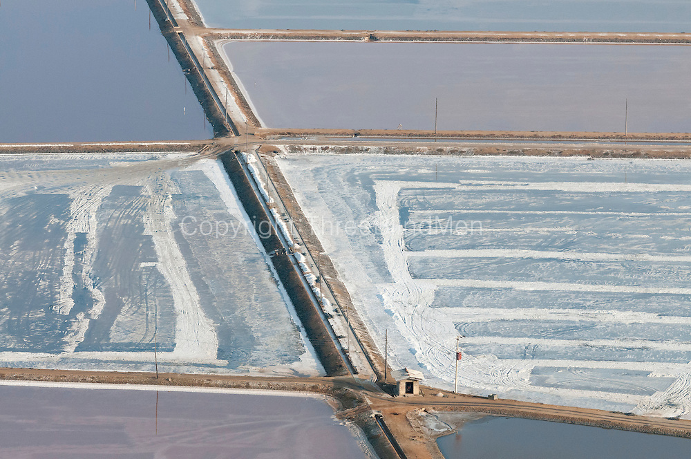 The Island from Above.<br /> The Salt Pans at Hambantota.  South East of the island.